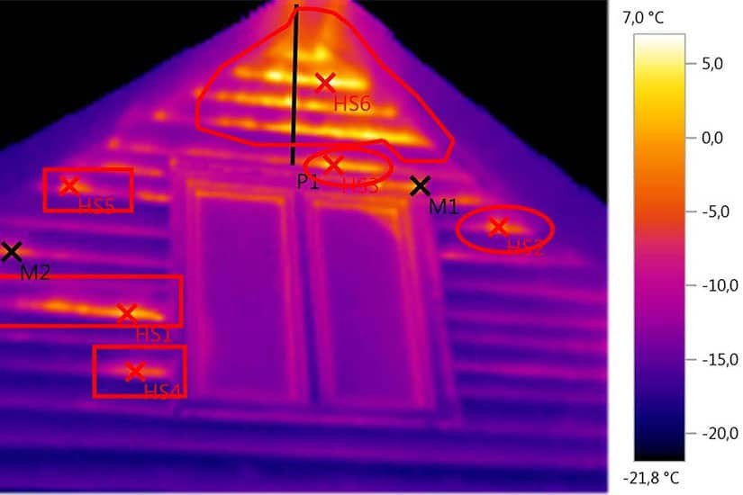 Измерение теплопотерь тепловизором